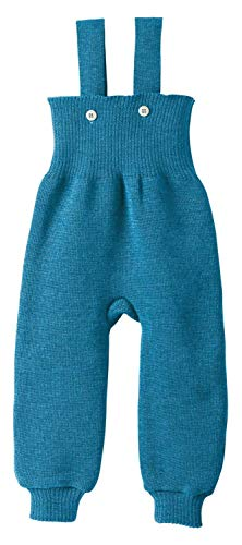 Disana Strick-Trägerhose blau Gr.50/56