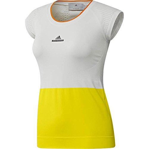 adidas Damen, Stella McCartney Barricade T-Shirt Gelb, Weiß, S Oberbekleidung, S