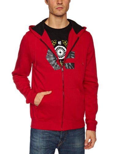 Etnies Icon Fill - Sweat-Shirt à Capuche Sport Zippé - À Logo - Coton - Homme - Rouge - M
