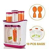 Babynahrungsmittelhersteller, bedienungsfreundlich und sicher, Fruchtpüree-Verpackungsmaschineinstallationssatz mit 10 Beuteln und zwei Löffeln, für selbst gemachtes Fruchtsaft-Säuglingslebensmittel