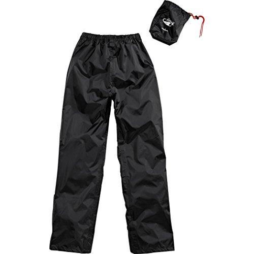 DXR Regenhose Damen und Herren wasserdicht Textilhose, wasserdicht, Ganzjahres-Wetterschutz, verschweißte Nähte, Schwarz M