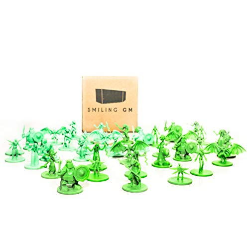 Smiling GM 40 Fantasy Monster Unpainted Miniatures...