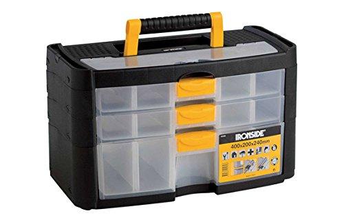 Ironside M261497 - Organizador plastico 3 compartimentos