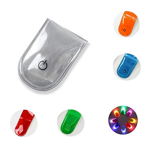 Veaoiy LED Sicherheitslicht Clip Magnetclip Licht fürs Laufen Joggen Walking Hochwertiges Leichtes Blinklicht Kinder und Erwachsene (PVC-Weiß)