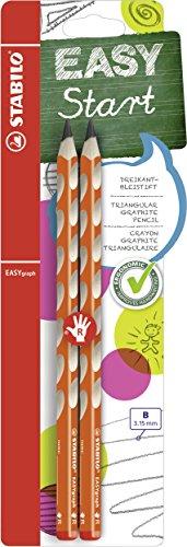Matita Ergonomica triangolare - STABILO EASYgraph per Destrimani in Arancione - Pack da 2 - Gradazione B