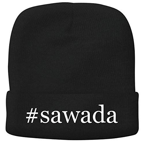 BH Cool Designs #Sawada - Adult Hashtag Comfortable Fleece Lined Beanie, Black