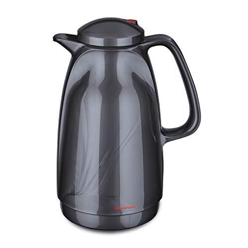 ROTPUNKT Isolierkanne 227 BELLA, 1,5 l titan, Glaseinsatz, BPA-frei, lange...