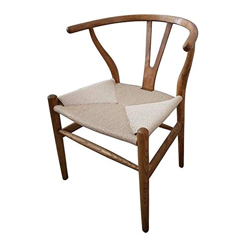 Price comparison product image CJC Chair Amish Dining Ash Wood Side Chair,  Weathered,  Wishbone Style Woven Natural Woven Cord PU Seat (Color : T7)