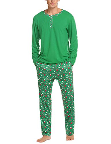 Image of All Over Print Christmas Pajamas for Men - See More Styles
