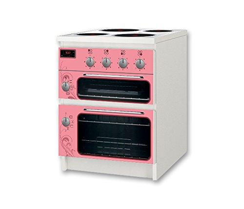 STIKKIPIX Kinderherd/Kinderofen rosa Möbelsticker/Aufkleber - NSD53 - für Kinderzimmer Kommode/Nachtisch MALM von IKEA - Möbel Nicht Inklusive
