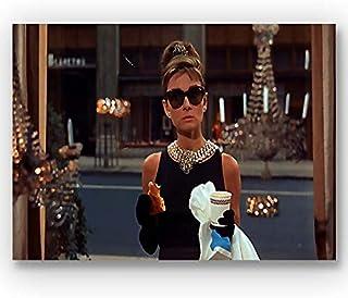 Box Prints Audrey Hepburn Tiffanys película Vintage todavía póster Enmarcado Imprimir Imagen