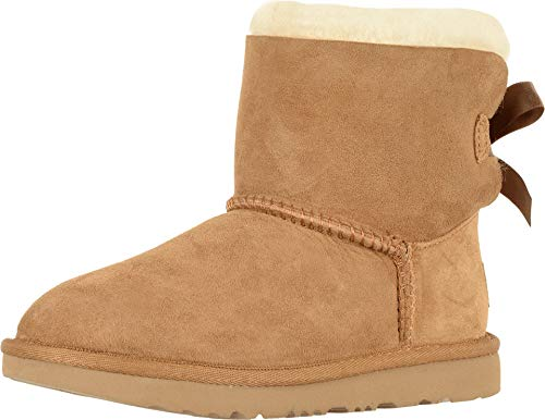 UGG Kids' Mini Bailey Bow II Stiefelette, Chestnut, 31 EU