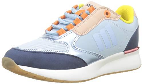 MTNG 69483 - Zapatillas para Mujer, Multicolor (Marino/High Azul Claro/Yoda Nude C45061) 37 EU