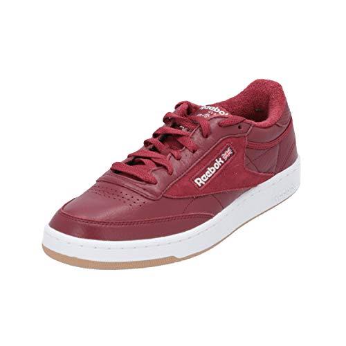 Reebok Club C 85 Estl, Zapatillas de Tenis Hombre, Rojo (Urban Maroon/White/Washed Blue/Gum 000), 38.5 EU