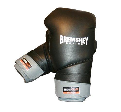Bremshey Boxhandschuhe Professional, schwarz/grau, 10 oz, 08BRSBO196