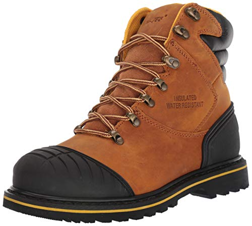 AdTec 7 Inch Mens Work Boots, Reflective Trim on Heel, Crazy Horse Leather upper