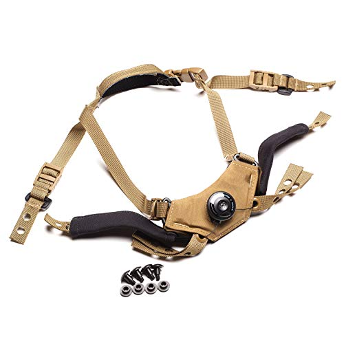 Team Wendy CAM FIT Retention System - Right Eye Dominant for ACH/MICH, Fast, AirFrame (Coyote Brown, Size 2)