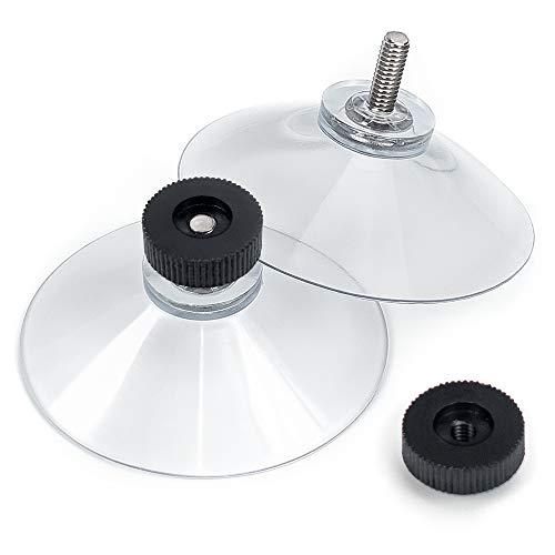 schildEVO Saugnäpfe Ø 50 mm | M4 Gewinde – Länge 10 mm | V2A Edelstahl | Rändelmutter | DHL-Versand | HOCHWERTIG - Made in Germany (Schwarze Rändelschrauben, 10)