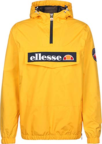 ellesse Mont 2 Quarter-Zip Over Head Lightweight Jacket Medium Yellow