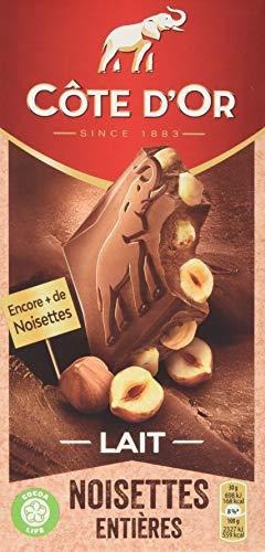 Cote d'Or Brüsseler Nuss, Vollmilch mit ganzen Nüssen Tafelschokolade (1 x 180 g)
