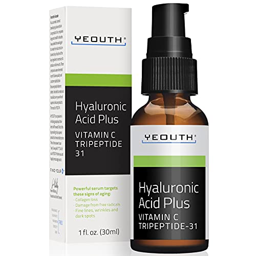 YEOUTH Best Anti Aging Vitamin C Serum with Hyaluronic Acid & Tripeptide 31 Trumps ALL Others (2oz) (1oz)