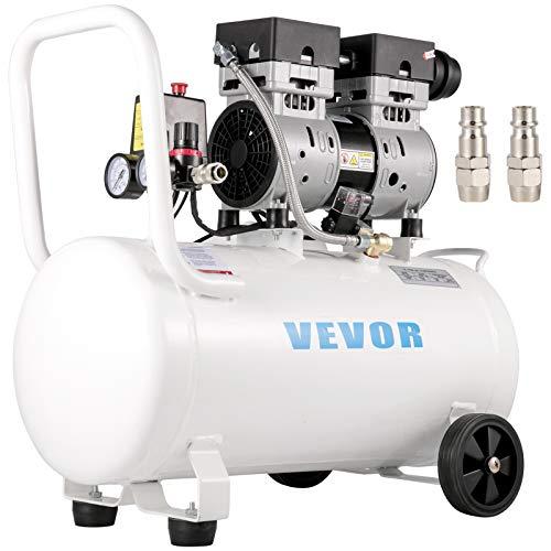 VEVOR Compresor de Aire Ultra Silencioso 50 L, Ultra Quiet Air Compressor 750 W, Compresor de Aire Silencioso de Tanque, 230 V 50 Hz, 68 dB, Compresor Ultra Silencioso para Reparaciones en el Hogar