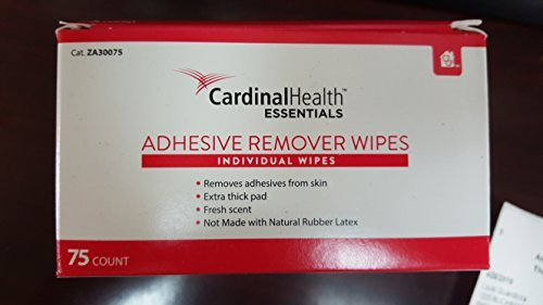 Cardinal Health Adhesive Remover WIpes 75 Count 1-1/4 x 3 # ZA30075 ... by Cardinal
