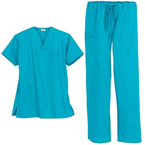Unisex Medical Uniform Set (XL, Turquoise)