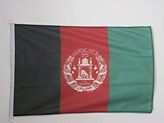 AZ FLAG Afghanistan Flag 3' x 5' External Use - Afghan Flags 90 x 150 cm - Banner 3x5 ft Knitted Polyester with Rings
