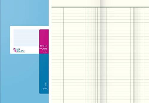 König & Ebhardt 8613411 Geschäftsbuch (Spaltenbuch 13,7x29,7cm, mit festem Kopf, 1 Spalte, 80g/m²)
