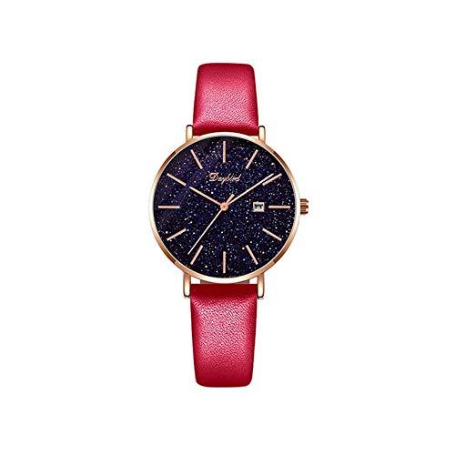 YIBOKANG Moda De Mujer Simple Temperament Fecha Full Star Star Dial 30M Reloj De Cuarzo Impermeable Empresa Casual Reloj De Moda (Color : 3)