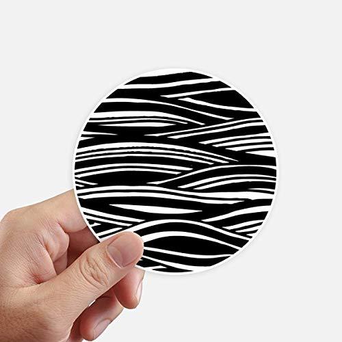 DIYthinker Gravure sur Bois Peinture Texture Vague Autocollants 10CM Mur Valise pour Ordinateur Portable Motobike Decal 8Pcs diamètre 10cm Multicolor