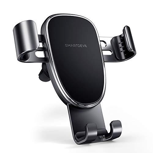 Soporte Movil Coche, SmartDevil Porta Movil para Coche 360° Rotación Ventilación Soporte Teléfono Coche para iPhone XR XS 11 8 7 Plus, Samsung Galaxy S20 S10 S9 S8 S7, Huawei P40 P30, LG Sony GPS etc.