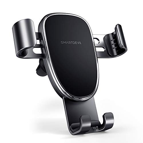 SMARTDEVIL Car Phone Holder Air Vent Phone Holder Adjustable Car Cradle for Cellphones One-Handed Operation Compatible with iPhone and All Other Smartphone (Black)