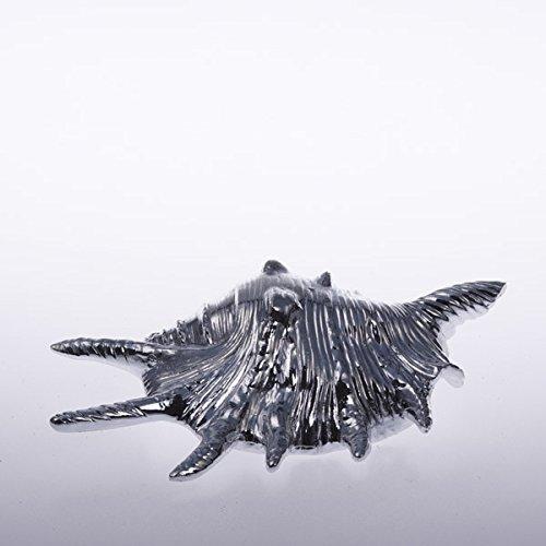 Schneckenmuschel en céramique - 16 cm-argent - 50055