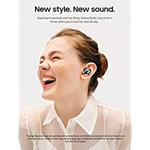 Samsung Galaxy Buds Live, True Wireless Earbuds w/Active Noise Cancelling (Wireless Charging Case Included), Mystic Black (US Version)