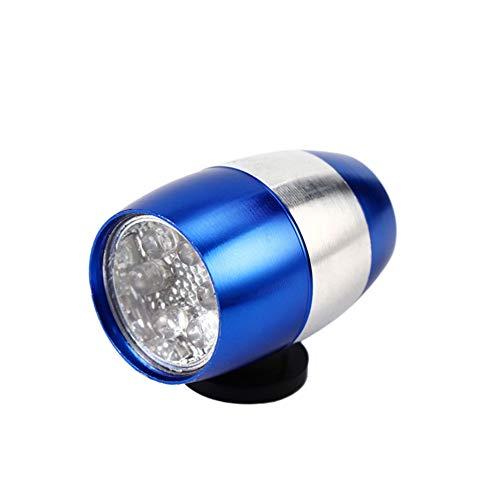 Beito Luz De Bicicletas 6 Led De Luz De Bicicletas De Aluminio Ligero Frente Cabeza Aleación De La Mini Linterna De Ciclo De Seguridad Luces con Pilas del Azul para El Hogar