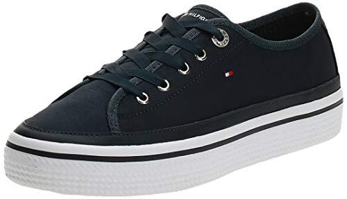 Tommy Hilfiger Corporate Flatform Sneaker, Scarpe da Ginnastica Basse Donna, Blu (Midnight 403), 39 EU