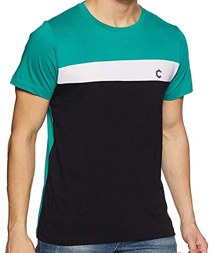 Chromozome Men's Solid Regular fit T-Shirt (STS 3-N-234_Eco Green M)