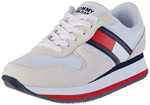 Tommy Hilfiger Flatform Runner Colour Sneaker, Zapatillas para Mujer, Rojo (RWB 0kp), 38 EU