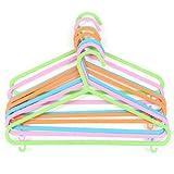 Invero 48 grucce appendiabiti per bambini – in plastica resistente e atossico per bambini, con bordi arrotondati e 2 ganci per un maggiore spazio – multicolore