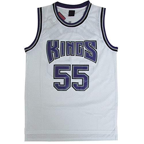 # 55 Maglia da Basket Kings Williams, Gilet da Gioco da Uomo 100% Maglia di Poliestere Traspirante Maglia da Ricamo Bianca Regalo di Festa S-XXL-M