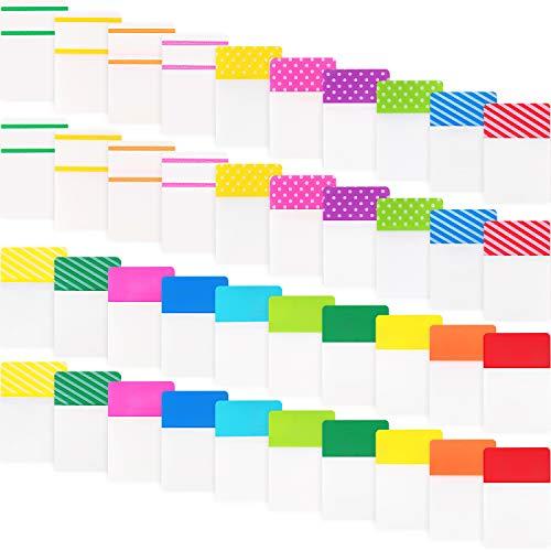 800 Stücke Datei Index Tabs Klebrig Beschreibbare Flaggen zum Beschriften und Organisieren von Dokumenten, Papieren, Einreichung, Buch, Ordner (1 Zoll, 800 Stücke)