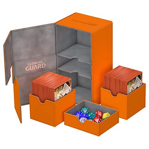 Ultimate Guard UGD010779 Twin Flip´n´Tray Deck Case 200+ - Funda para cartas (tamaño estándar), color naranja