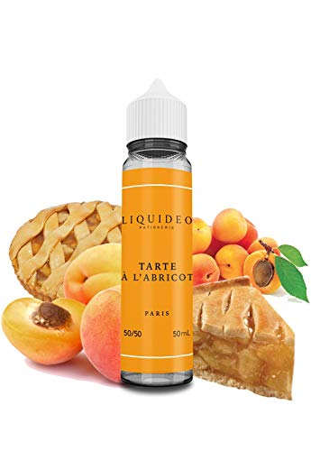 E-Liquid TARTE À L'ABRICOT | 50ML TPD | LIQUIDEO TENTATION | No Contiene Nicotina: 0MG | E-Liquido para Cigarrillos Electrónicos - E Líquidos para Vaper 60/40