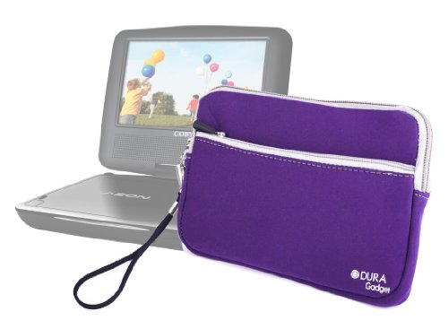 Save %27 Now! DURAGADGET Purple Water Resistant Protective Neoprene Cover - Compatible with Coby Por...