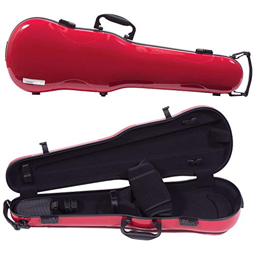 red violin with cases Gewa Air 1.7 Shaped Red Violin Case with Black Interior