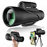 Monocular Telescope,16x55 High Power Monocular with Smartphone Holder & Tripod,Newest Waterproof Zoom Scope,Day & Low Night Vision,BAK4 Prism for Wildlife Hunting Camping Bird Watching Travelling