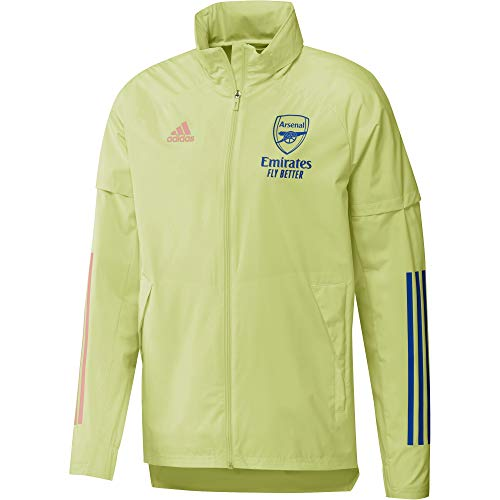 adidas 2020-2021 Arsenal Allweather Jacket (Yellow)