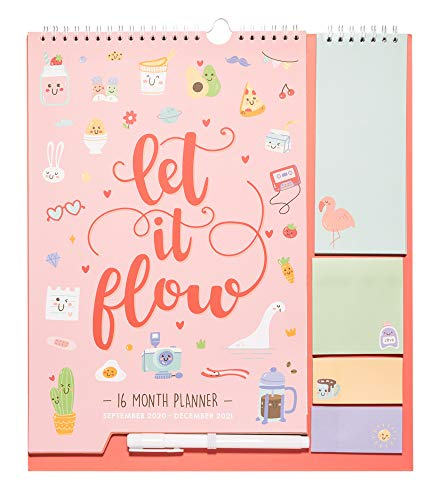 Grupo Erik Calendario da Muro 2020/2021 Kawaii con planner mensile da Settembre '20 a Dicembre '21. Include bloc notes, bloc adesivi, to do list, penna e adesivi stickers. Dimensioni di 30x34 cm